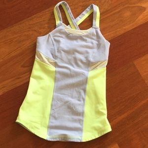 Ivivva yellow and gray tank top